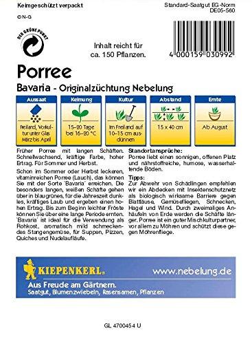 Lauchsamen – Porree Bavaria von Kiepenkerl