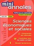 Mini-annales 2000 : Sciences économiques et sociales, bac (série ES)...