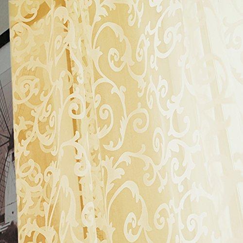 Floreale tulle voile finestra tenda in voile, tinta unita piombo ponderata tenda per camera da letto/soggiorno, tende rosa, beige, 200cm x 100 cm