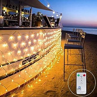3M X2M 200LED Guirnaldas Neta Luz Luces de Navidad Luces de red Luces de árbol para en interiores y exteriores 8 programas