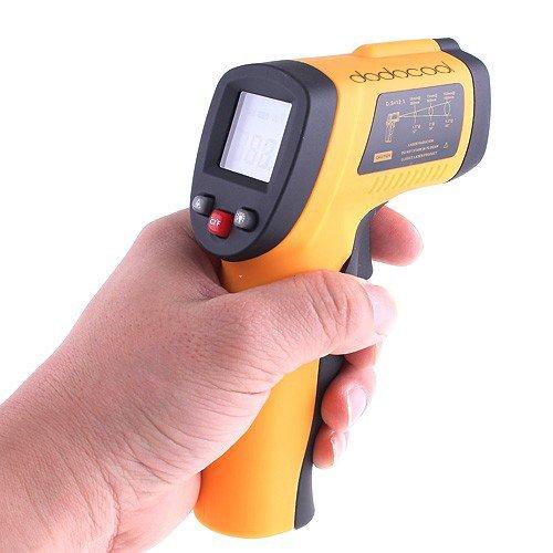 KKmoon Termómetro infrarrojo digital sin contacto Láser IR Infrared Thermometer -50℃ -700Guardado