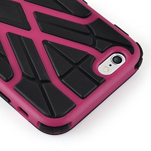 Coque iPhone 6 Plus 6s Plus Coque incassable iPhone 6 Plus | JAMMYLIZARD | Coque anti chocs [ ALIEN ] Coque incassable pour iPhone 6 Plus 6s Plus Coque heavy duty case, Turquoise SPIDER - ROSE FUCHSIA