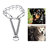 #9: Petlicious & More Chrome Plated Strong Dog Prong Collar Pinch Collar Dog Training Collar Dog Collar - 18 Inch Collar