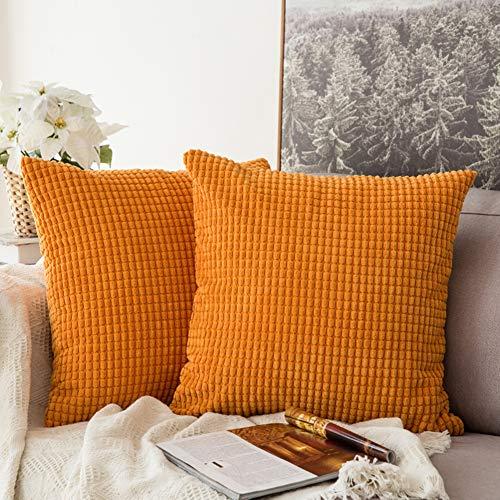 YXDDG Ikea nordischen Kissen Kissen Wohnzimmer Sofa Kissen büro Stuhl rückenlehne Schlafzimmer Kissen Bett Kissen-orange 50x50cm(20x20inch)