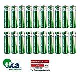 tka Köbele Akkutechnik AA Marken Batterien: Super-Alkaline-Batterien Mignon 1,5V Typ AA, 20 Stück (Batterie-Set)