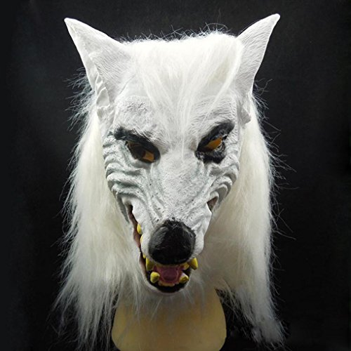 te Wolf Kopf Maske Latex Cosplay Tier Kostüm Maske Theater Prop ()