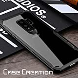 Samsung Galaxy S9 Plus Transparent Case, Case Creation® Samsung S9 Plus Auto Focus PC + TPU Ultra-Thin Hybrid Hard Protective Case Cover Shock Absorption Back Transparent Clear Bumper Cover For Samsung Galaxy S9 Plus - Black Border