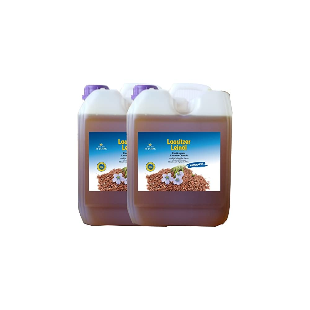 10 Liter Leinl 2 X 5 Liter Lausitzer Kaltgepresst Ohne Konservierungsstoffe Kostenlose Lieferung