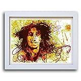 Bob Marley Reggae Musik Legenden Poster und gerahmt Prints A4A3A2Größen - 9. A2 POSTER WHITE FRAME