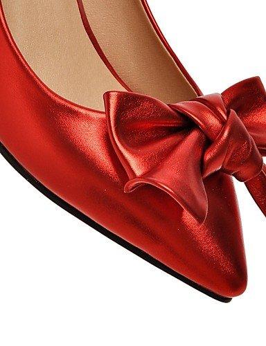 WSS 2016 Chaussures Femme-Extérieure / Bureau & Travail / Décontracté-Noir / Rose / Rouge / Argent-Gros Talon-Talons-Chaussures à Talons- pink-us4-4.5 / eu34 / uk2-2.5 / cn33