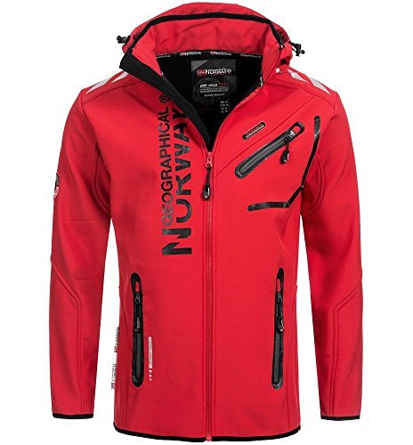 94A5 Amazon II Geographical Norway Rainman Herren Softshell Rot Gr. L