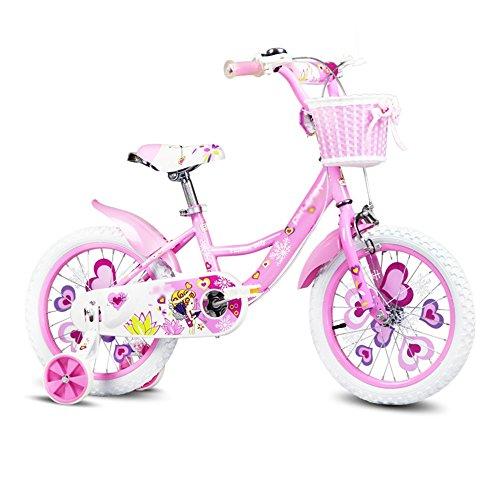 ZHIRONG Bicyclette Pour Enfants Rose Vert Bleu Taille 12 Pouces, 14 Pouces, 16 Pouces, 18 Pouces Sortie Extérieure ( Couleur : Rose , taille : 18 inch )