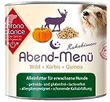 ChronoBalance Abend-Menü (12 x 200g), Hochwertiges Nassfutter (Alleinfutter) für Hunde mit Wild, glutenfrei, lactosefrei, allergikergeeignet