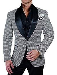 GEORGE chaqueta de traje de hombre formal partido smoking chal solapa trajes chaqueta de traje multicolor