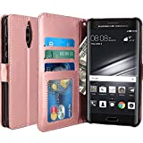 Huawei Mate 9 Pro Hülle, LK Luxus PU Leder Brieftasche