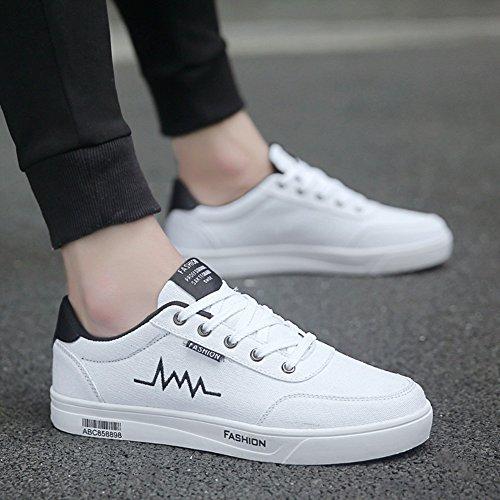 XUEQIN scarpe da uomo trendy bianco scarpe scarpe casual scarpe scarpe di tela autunno ( Colore : 3 , dimensioni : EU39/UK6.5/CN40 ) 7