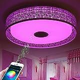 CHEYAL LED Musik Deckenleuchte mit Bluetooth Lautsprecher, Dimmbare Deckenleuchte, RGB Home Party Licht mit App Fernbedienung, Smart Home [Energieklasse A ++]