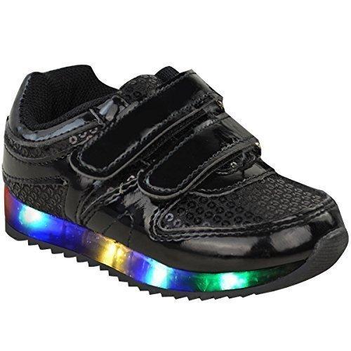 Nouveaux Enfants Filles Bébés Lumière LED Baskets à lanières Baskets chaussures bébé Taille
