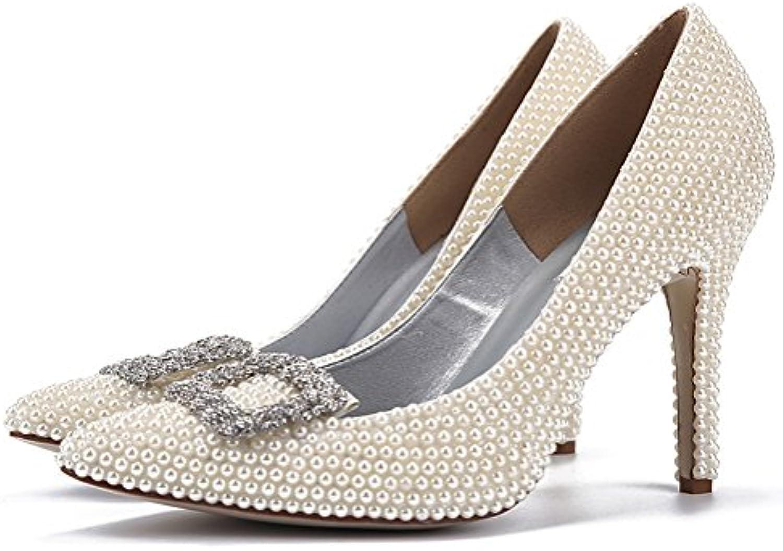 fe325e3dd27c13 L@YC Chaussures Chaussures Chaussures à Talons Hauts pour Femmes en  Cuir Verni Printemps Été Confort Strass Stiletto Plate-Forme  Bout.