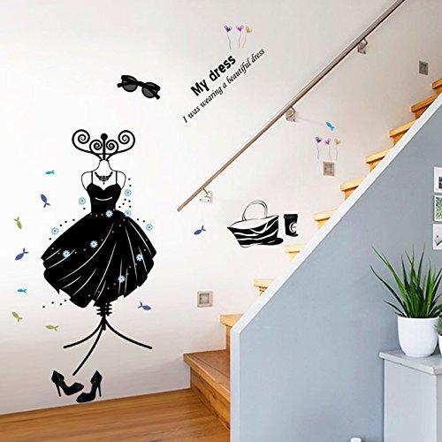 g Schuhe Hüte Wohnzimmer Schlafzimmer Dekoration Schwarz Wandaufkleber An Der Wand Brille Kleiderbügel ()