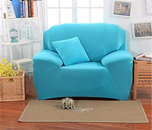 NHFGJ Funda para sofá elástica Antideslizante Color sólido Simple Todo Incluido 1/2/3/4...