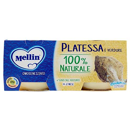 Mellin Omogeneizzato di Platessa e Verdure 100% Naturale 24 Vasetti da 80 gr