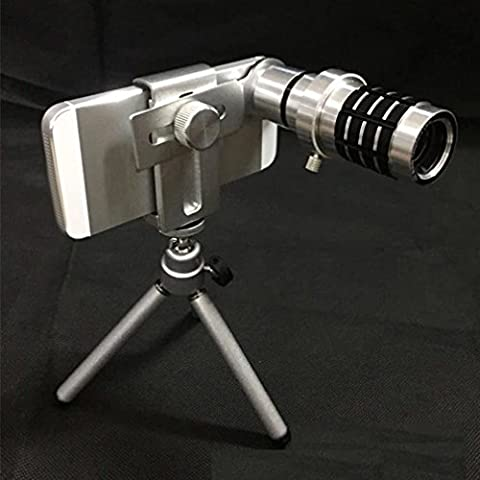 12 Times the Universal Mobile Phone Telescope Metal 12 Times Telephoto Lens Wide Angle Design Single