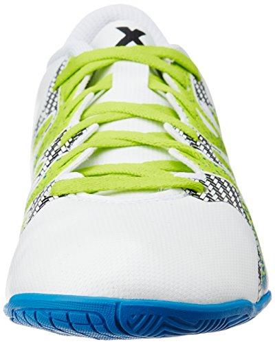 adidas Herren X 15.4 in Fußballschuhe Weiß (Ftwr White/Semi Solar Slime/Core Black)