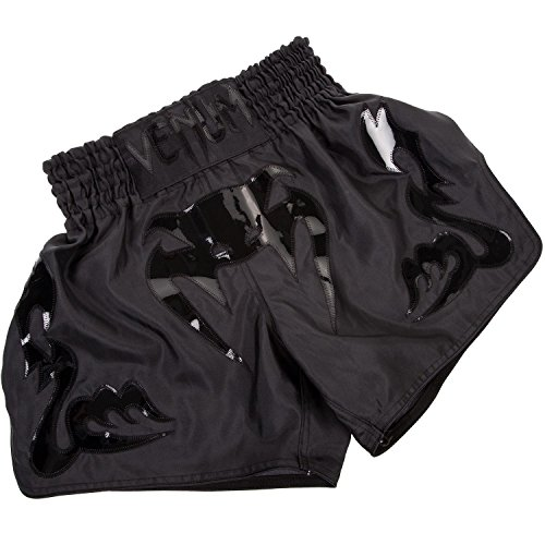 Venum Herren Thaibox Shorts Thaibox Shorts Bangkok Inferno, schwarz (Matte/Black), L (Muay Shorts Thai)