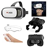 Jt Newest 3D Vr Box, With Bluetooth Controller, Virtual Reality Headset Version 2.0 . 3D Glasses Adjust Cardboard Vr Box For 3.5~6.0' Mobiles