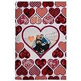Lolapix Manta Suave San Valentín 95x140cm. Personalizada con tu Foto. Varios diseños. Regalo para...