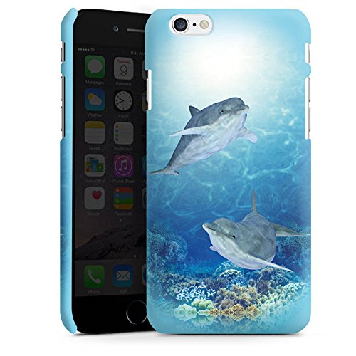 Apple iPhone X Silikon Hülle Case Schutzhülle Happy Dolphins Delfin Meer Premium Case matt