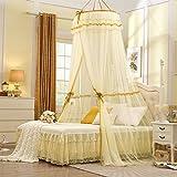 Dormitorio circular pabellón mosquitero naturals incluso chinche no me red mordida insecto repelente-beige 120x200cm(47x79inch)