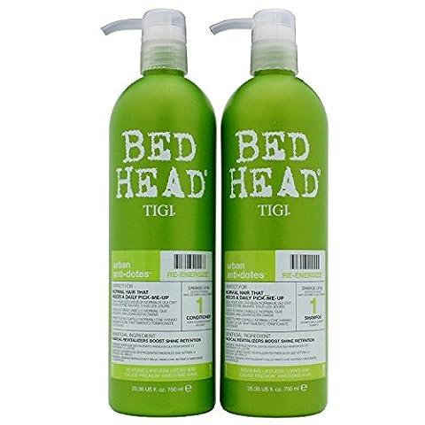 Tigi Bed Head - Shampoing + Après-Shampoing Conditioner - Urban Anti-Dotes Hair Care Re-Energize - 2 x 750ml