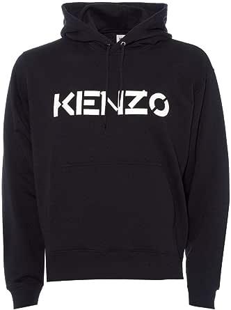 Kenzo Mens Chest Logo Hoodie M Black