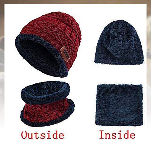 Sombrero de Mujer Guantes Bufanda 3 en 1 Juego Sombrero de Dibujos Animados de Invierno de Navidad para Mujer Conjunto Sombrero c/álido Bufanda