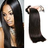 Brésilien Tissage Straight Hair 3 Paquets Cheveux Humains en lot pas cher Naturel 22 24 26 Inch