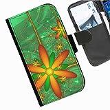 Hairyworm- Blumen Seiten Leder-Schützhülle für das Handy Samsung Galaxy S3 Neo (I9301I)