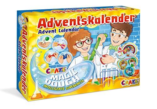 CRAZE Adventskalender MAGIC DOUGH Superknete 2019 Weihnachtskalender für Mädchen und Jungen Spielzeug Kalender tolle Inhalte 19399