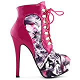 Spectacle histoire Hot Pink Date jour mariage dames Super High Heels, LF80831HP38, 38, rose vif...