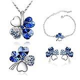 Crunchy Fashion Clover Crystal Jewel Set...