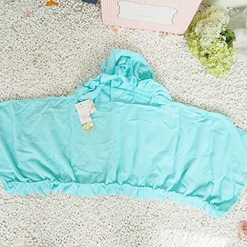 Pajamas Pyjama Suit , Coton avec Poches Peignoir , Coton Bleu Enfant Cartoon Peignoir Bébé Chemise De Nuit , avec Chapeau (Manches Longues)