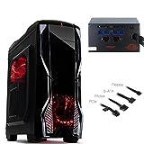 K1 EVO Gamer PC Computer Midi Tower ATX Gehäuse mit 750 Watt Gaming Netzteil