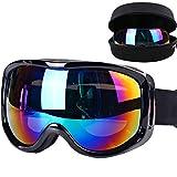 Boonor maschera da sci Snowboard motocicletta Occhiali da sci protezione per snowboard per sci Snowboard ATV Occhiali per motocicletta Sicurezza regolabile Bianco anti-nebbia antivento