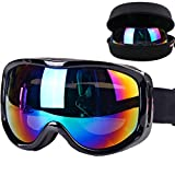 Boonor maschera da sci Snowboard motocicletta Occhiali da sci...