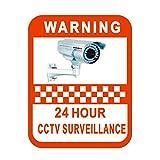 Hanbaili 5 STÜCKE Überwachung Warnzeichen Mark Vinyl Aufkleber Aufkleber Warnung Etiketten Video Kamera Überwachung Sicherheit Alarm