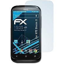 atFoliX FX-Clear - Protectores de pantalla antirreflectantes para HTC Desire X (3 unidades), transparentes