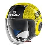 Shark Casque Moto NANO TRIBUTE RM YKA, Noir/Jaune, Taille L