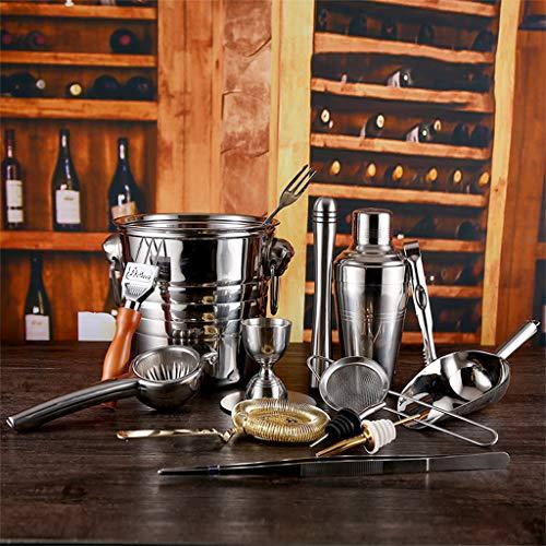 Berühmte Weinprobe Set Bartending 15 Stück Set Shake Flachmann Edelstahl Barkeeper Cocktail Shaker...