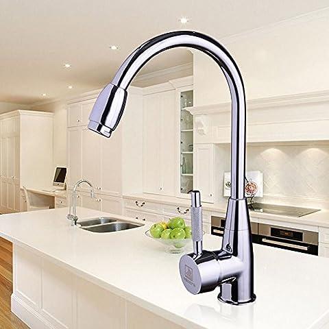 E Support™ Nuovo Cromato rubinetti del bacino della cucina rubinetto di lavabo con Caldo freddo